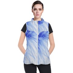 Feather Blue Colored Women s Puffer Vest