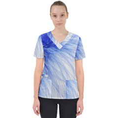 Feather Blue Colored Scrub Top