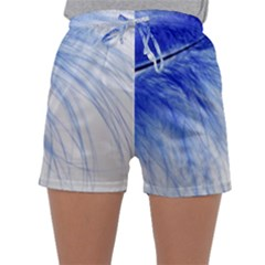Feather Blue Colored Sleepwear Shorts