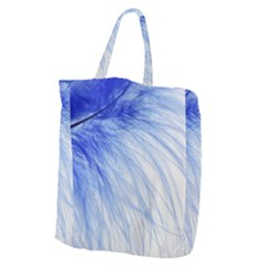 Feather Blue Colored Giant Grocery Zipper Tote