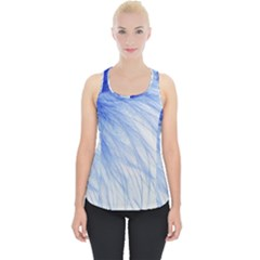 Feather Blue Colored Piece Up Tank Top
