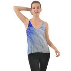 Feather Blue Colored Cami