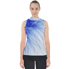 Feather Blue Colored Shell Top