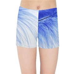 Feather Blue Colored Kids Sports Shorts