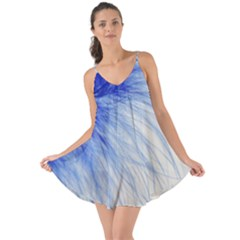 Feather Blue Colored Love The Sun Cover Up