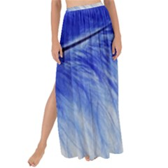 Feather Blue Colored Maxi Chiffon Tie Up Sarong