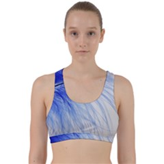 Feather Blue Colored Back Weave Sports Bra