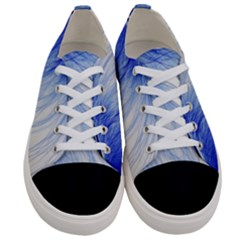 Feather Blue Colored Women s Low Top Canvas Sneakers