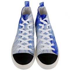 Feather Blue Colored Men s Mid Top Canvas Sneakers