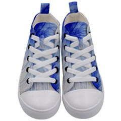 Feather Blue Colored Kid s Mid Top Canvas Sneakers