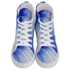 Feather Blue Colored Men s Hi Top Skate Sneakers