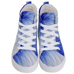 Feather Blue Colored Kid s Hi Top Skate Sneakers