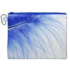Feather Blue Colored Canvas Cosmetic Bag (xxl)