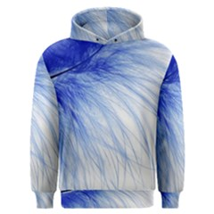 Feather Blue Colored Men s Overhead Hoodie