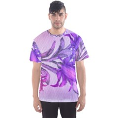 Flowers Flower Purple Flower Men s Sports Mesh Tee