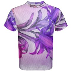 Flowers Flower Purple Flower Men s Cotton Tee