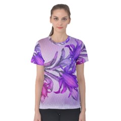 Flowers Flower Purple Flower Women s Cotton Tee