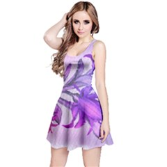 Flowers Flower Purple Flower Reversible Sleeveless Dress