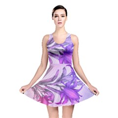 Flowers Flower Purple Flower Reversible Skater Dress