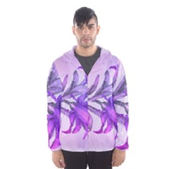 Flowers Flower Purple Flower Hooded Wind Breaker (men)