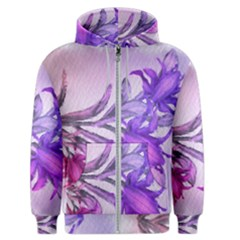 Flowers Flower Purple Flower Men s Zipper Hoodie
