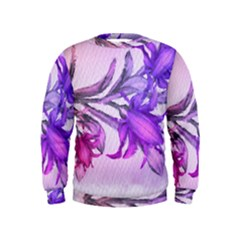 Flowers Flower Purple Flower Kids  Sweatshirt