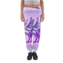 Flowers Flower Purple Flower Women s Jogger Sweatpants