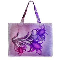 Flowers Flower Purple Flower Zipper Mini Tote Bag