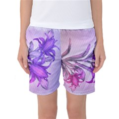 Flowers Flower Purple Flower Women s Basketball Shorts