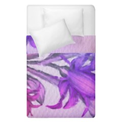 Flowers Flower Purple Flower Duvet Cover Double Side (single Size)