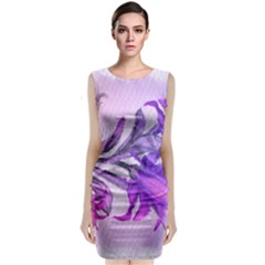Flowers Flower Purple Flower Classic Sleeveless Midi Dress