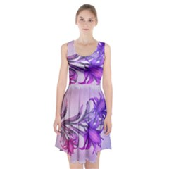 Flowers Flower Purple Flower Racerback Midi Dress