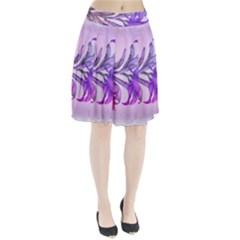 Flowers Flower Purple Flower Pleated Skirt