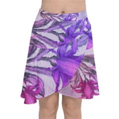 Flowers Flower Purple Flower Chiffon Wrap