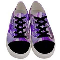 Flowers Flower Purple Flower Men s Low Top Canvas Sneakers