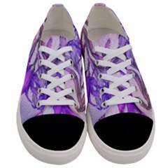 Flowers Flower Purple Flower Women s Low Top Canvas Sneakers