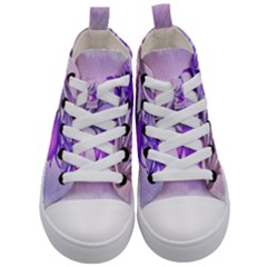 Flowers Flower Purple Flower Kid s Mid Top Canvas Sneakers