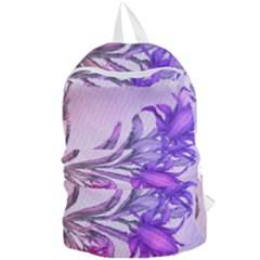 Flowers Flower Purple Flower Foldable Lightweight Backpack