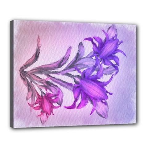 Flowers Flower Purple Flower Canvas 20  X 16