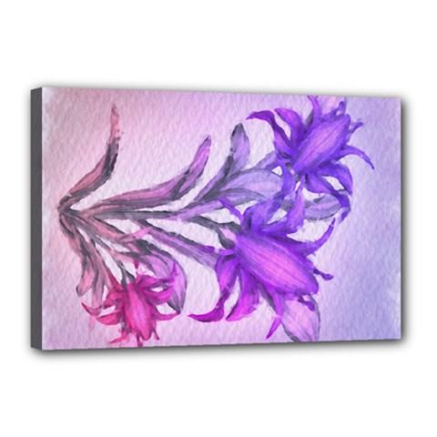 Flowers Flower Purple Flower Canvas 18  X 12