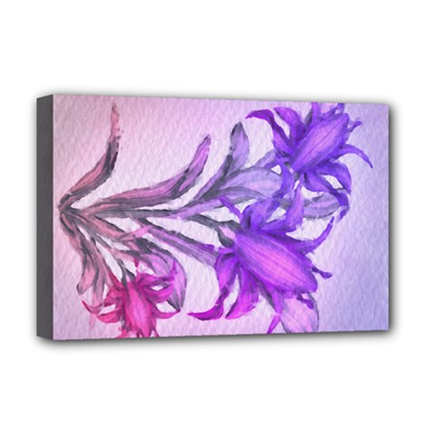 Flowers Flower Purple Flower Deluxe Canvas 18  X 12