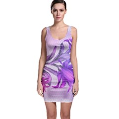 Flowers Flower Purple Flower Bodycon Dress