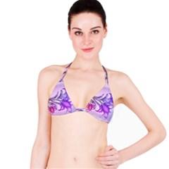 Flowers Flower Purple Flower Bikini Top
