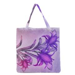 Flowers Flower Purple Flower Grocery Tote Bag