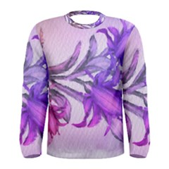 Flowers Flower Purple Flower Men s Long Sleeve Tee