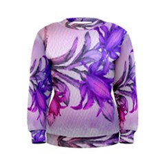Flowers Flower Purple Flower Women s Sweatshirt