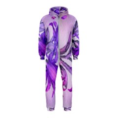 Flowers Flower Purple Flower Hooded Jumpsuit (kids)