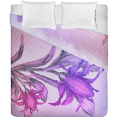 Flowers Flower Purple Flower Duvet Cover Double Side (california King Size)
