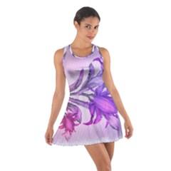 Flowers Flower Purple Flower Cotton Racerback Dress
