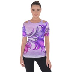 Flowers Flower Purple Flower Short Sleeve Top